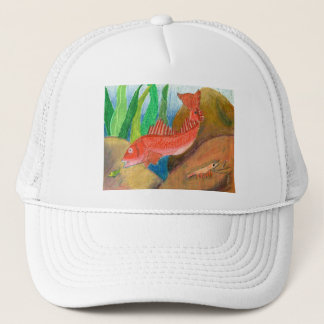Winning artwork by D. Gutierrez, Grade 8 Trucker Hat