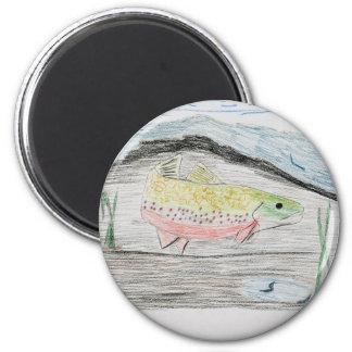Winning artwork by E. Boulter, Grade 8 2 Inch Round Magnet