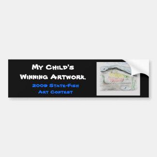 Winning artwork by E. Boulter, Grade 8 Bumper Sticker