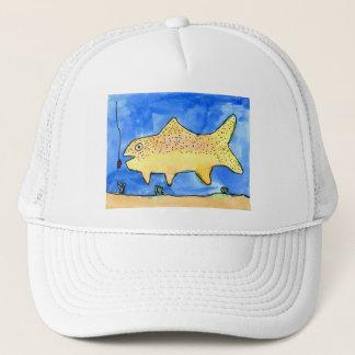 Winning artwork by E. Gardner, Grade 4 Trucker Hat