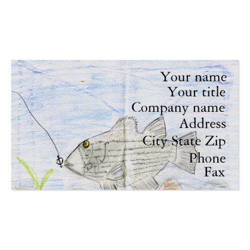 Winning artwork by E. McKinney II, Grade 4 Business Card Template