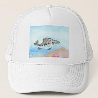 Winning artwork by E. Saliga, Grade 5 Trucker Hat