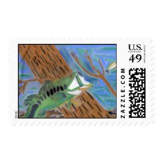 Winning artwork by H. Harp, Grade 4 Stamp