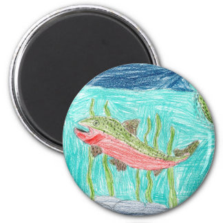 Winning artwork by J. Vaughan, Grade 4 2 Inch Round Magnet
