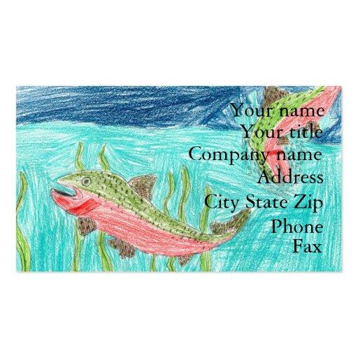 Winning artwork by J. Vaughan, Grade 4 Business Card Templates