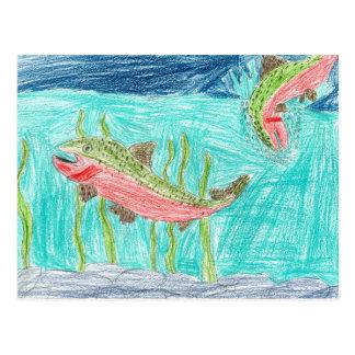 Winning artwork by J. Vaughan, Grade 4 Postcard