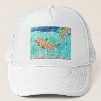 Winning artwork by J. Vaughan, Grade 4 Trucker Hat