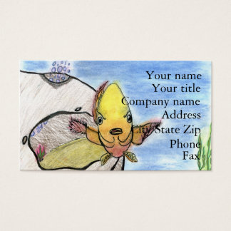 Winning artwork by K. Gill, Grade 9 Business Card