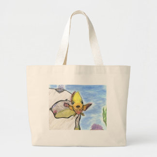 Winning artwork by K. Gill, Grade 9 Large Tote Bag