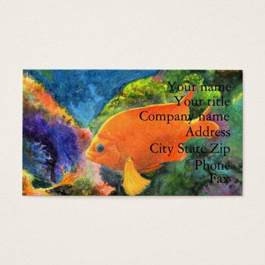 Winning artwork by L. Day, Grade 9 Business Card