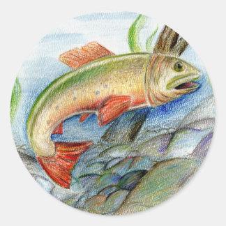 Winning artwork by M. Tcherneikina, Grade 8 Round Stickers