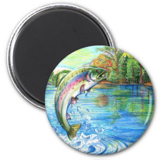 Winning artwork by M. Yuan, Grade 9 2 Inch Round Magnet
