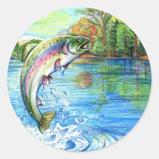 Winning artwork by M. Yuan, Grade 9 Classic Round Sticker