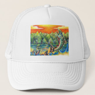 Winning artwork by R. Hasegawa, Grade 10 Trucker Hat