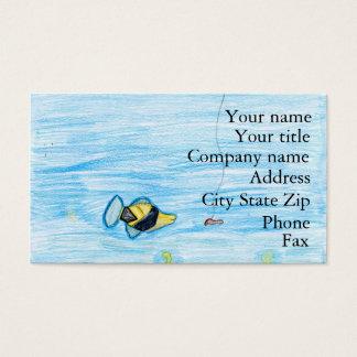 Winning artwork by R. Lacher, Grade 4 Business Card
