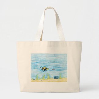 Winning artwork by R. Lacher, Grade 4 Large Tote Bag