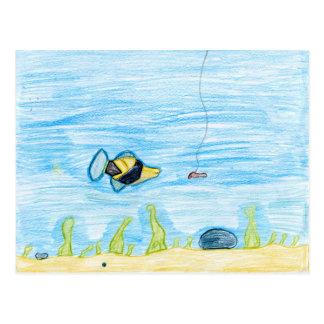 Winning artwork by R. Lacher, Grade 4 Postcard