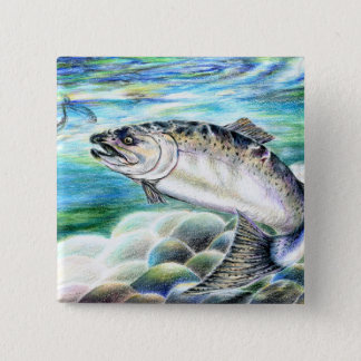Winning artwork by S. Kang, Grade 11 Pinback Button