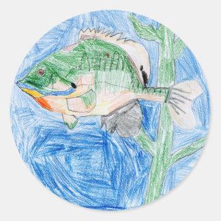 Winning artwork by S. Karch, Grade 4 Classic Round Sticker
