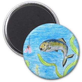 Winning artwork by S. Tomko, Grade 6 2 Inch Round Magnet