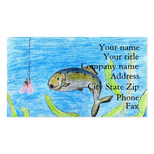 Winning artwork by S. Tomko, Grade 6 Business Card