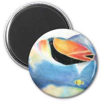 Winning artwork by S. Yang, Grade 12 2 Inch Round Magnet