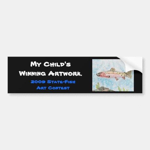 Winning artwork by T. Homan, Grade 5 Bumper Sticker