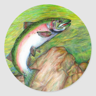 Winning artwork by T. Schuh, Grade 9 Classic Round Sticker
