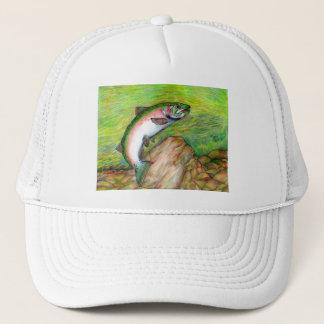 Winning artwork by T. Schuh, Grade 9 Trucker Hat
