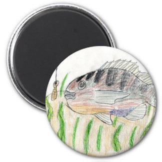 Winning artwork by T. Tellinghuisen, Grade 5 2 Inch Round Magnet