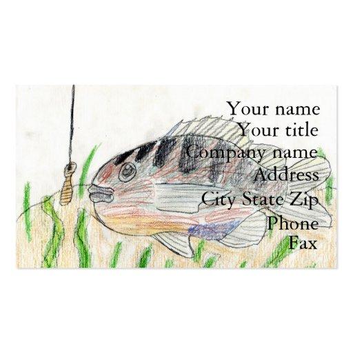 Winning artwork by T. Tellinghuisen, Grade 5 Business Card Templates