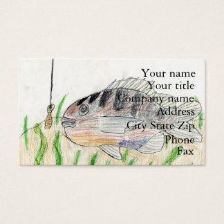 Winning artwork by T. Tellinghuisen, Grade 5 Business Card