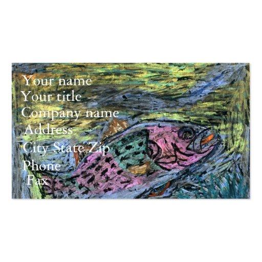 Winning artwork by Y. Seo, Grade 10 Business Card Template