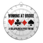 Winning At Bridge A Lollapalooza Event For Me Dartboard With Darts
