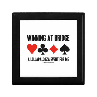 Winning At Bridge A Lollapalooza Event For Me Gift Boxes