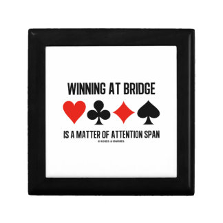 Winning At Bridge Is A Matter Of Attention Span Trinket Boxes