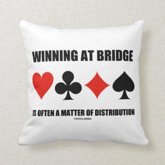 Winning At Bridge Often A Matter Of Distribution Throw Pillow
