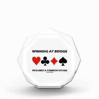 Winning At Bridge Requires A Common System Award