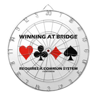 Winning At Bridge Requires A Common System Dartboard With Darts