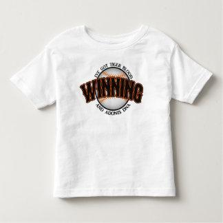 Winning Baseball Tiger Blood Toddler T-shirt