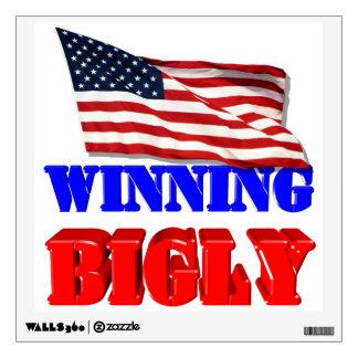 Winning Bigly For America Wall Sticker