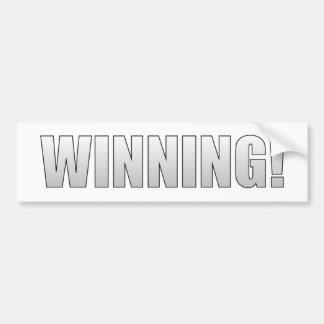 Winning! Bumper Sticker