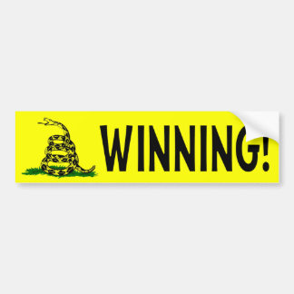 Winning! Car Bumper Sticker