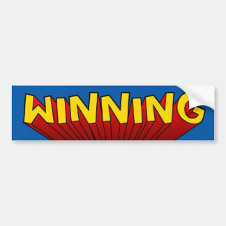 Winning Bumper Sticker Car Bumper Sticker