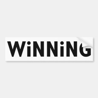 Winning Car Bumper Sticker