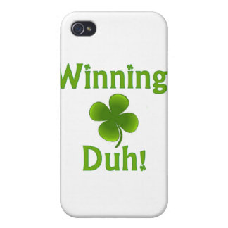 Winning Charlie Sheen St. Patrick's Day iPhone 4/4S Case