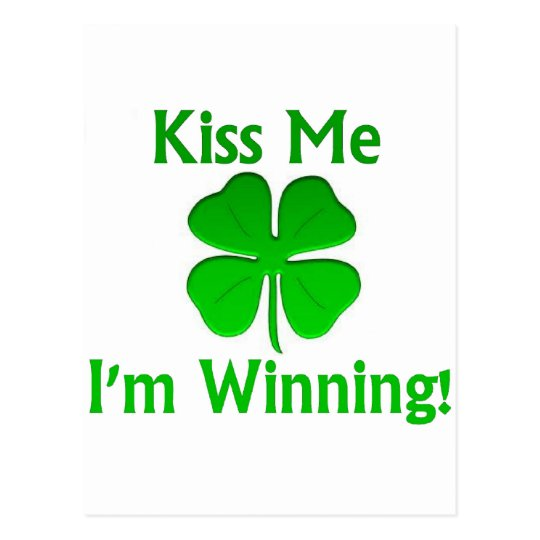 Winning Charlie Sheen St. Patrick's Day Postcard