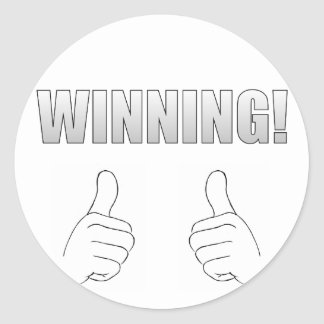 Winning! Classic Round Sticker