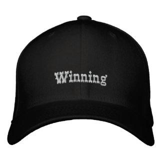 Winning Embroidered Baseball Hat