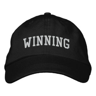 WINNING EMBROIDERED BASEBALL CAP